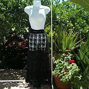 Bohemian Crochet Skirt/Coverup